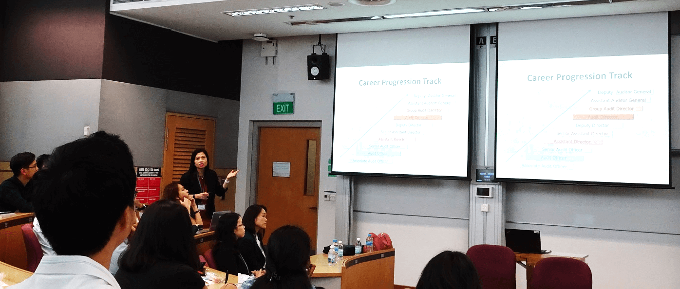 Participation in Career Talk organised by SMU Accountancy Society