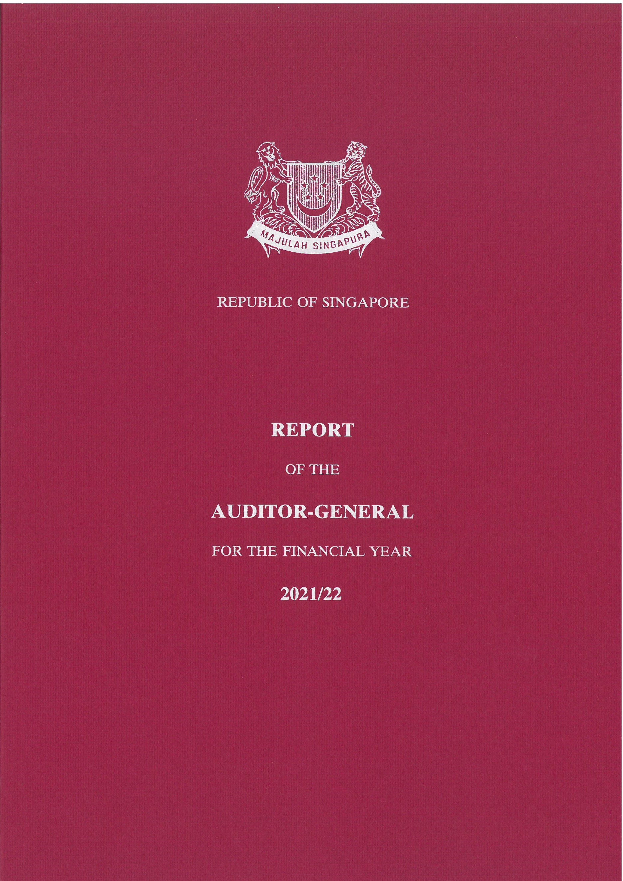 The Report of Auditor General